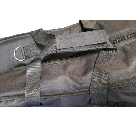 Black Gollihur Upright Bass Padded Gig Bag, detail of dual handle with grip