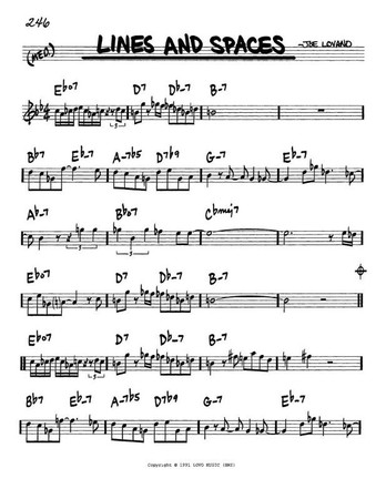 The Real Book, Volume I (Bass Clef Edition), sample page