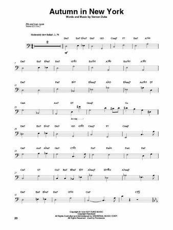 Ray Brown – Legendary Jazz Bassist - Transcription Book, sample page