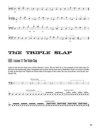 Rockabilly Bass - Slap Technique by Johnny Hatton, example page