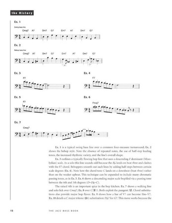The Jazz Bass Book; Technique and Tradition - John Goldsby - Book with Audio, example page