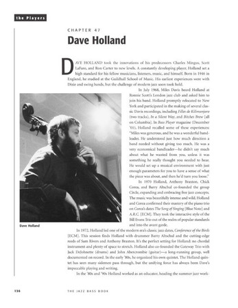 The Jazz Bass Book; Technique and Tradition - John Goldsby - Book with Audio, example page featuring Dave Holland