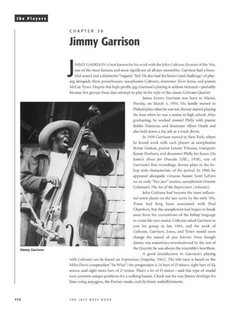 The Jazz Bass Book; Technique and Tradition - John Goldsby - Book with Audio, example page featuring Jimmy Garrison