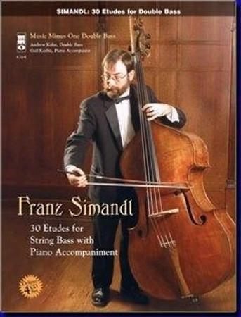 Franz Simandl - 30 Etudes with 4 Accompaniment Tracks, cover