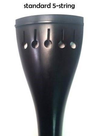 Ebony Upright Bass Tailpiece, 5-string tulip style