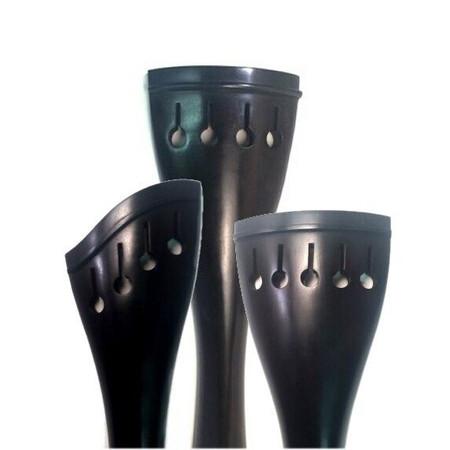 Ebony Upright Bass Tailpiece, three models in one photo