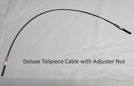 Deluxe adjustable stainless steel braided tailgut with adjuster nuts