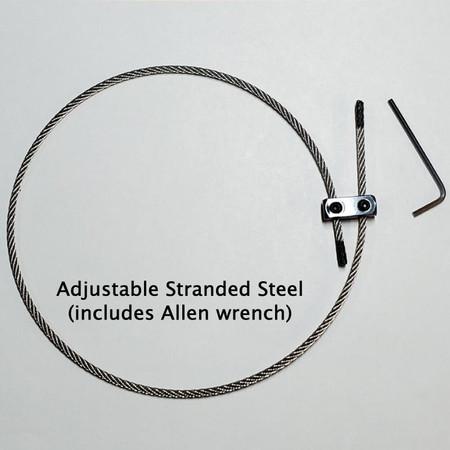 Stranded steel tailgut with adjustable collet