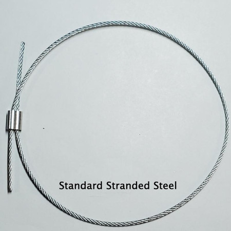 Stranded steel tailgut with crushable sleeve