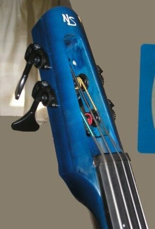 Hipshot Ultralite Tuning Machines for NXT and WAV4 Electric Upright Bass, installed on NS Design WAV electric upright bass