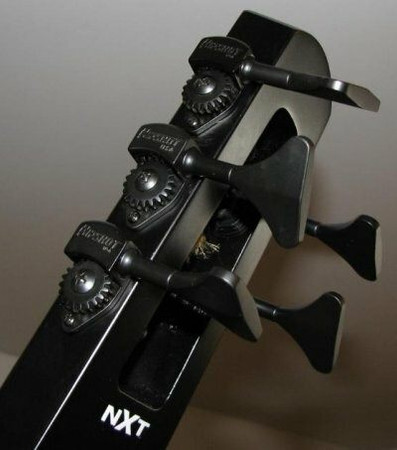 Hipshot Ultralite Tuning Machines for NXT and WAV4 Electric Upright Bass, installed on NS Design NXT electric upright bass