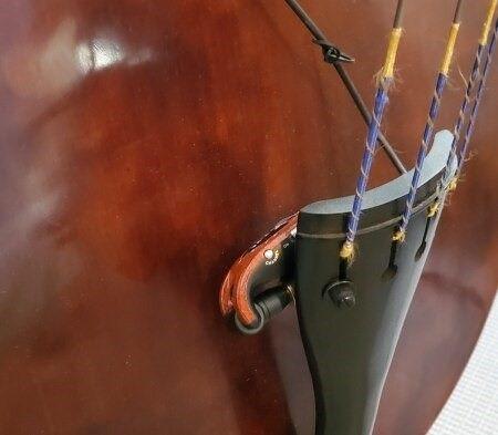 Digital Audio Wireless System - Model U2 by X-Vive, transmitter on upright bass output jack