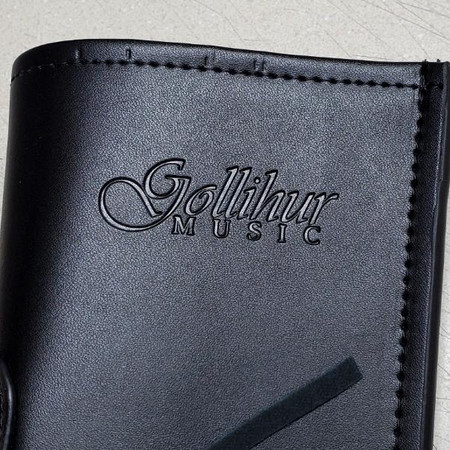 Gollihur Leather Bass Bow Quiver - Closeup of stamped logo