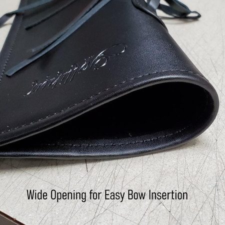 Gollihur Leather Bass Bow Quiver - opening, view