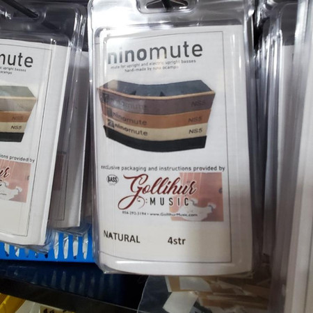 Ninomute for double bass and electric upright, packaged