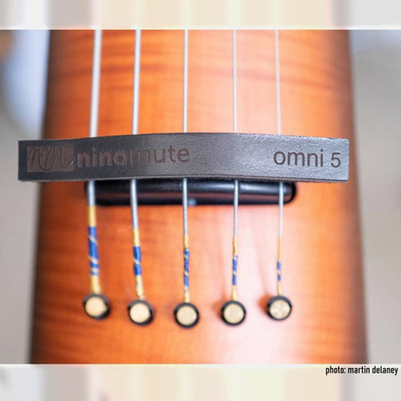 Five-string OmniMute on NS Design CR5 OmniBass, photo by Martin Delaney