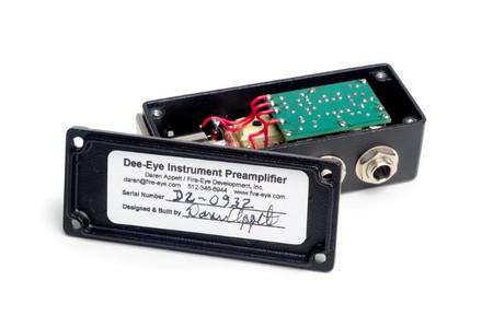 Dee-Eye Instrument Preamplifier/DI by Fire-Eye, open for inspection