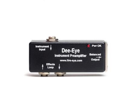 Dee-Eye Instrument Preamplifier/DI by Fire-Eye, top view