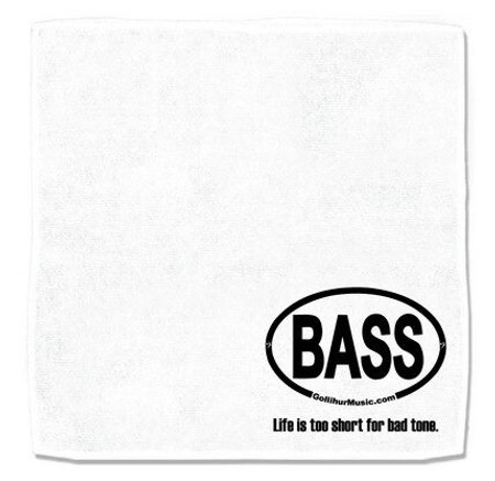Microfiber Cleaning Cloth/Towel with BASS logo, flat to show printed area