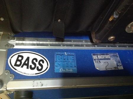 BASS oval logo, vinyl decorative sticker, on gear case
