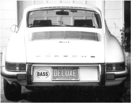 BASS oval logo, vinyl decorative sticker, on vehicle