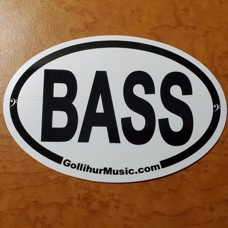 BASS oval logo, vinyl decorative sticker