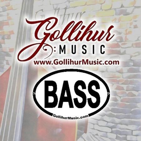 Double Bass Original Artwork by Mark Gollihur - Refrigerator Magnets, Set of 4, Gollihur usic Classy logo