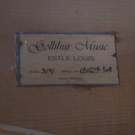 Estle Louis Hybrid Double Bass - Label