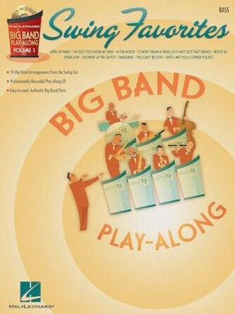 """Big Band Play-Along, """"Swing Favorites"""" - Book with Play-Along Audio Tracks, cover"""