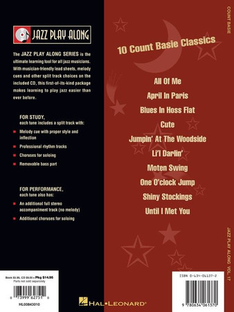 "Big Band Play-Along, ""Count Basie"" - Book with Play-Along Audio Tracks, back cover"