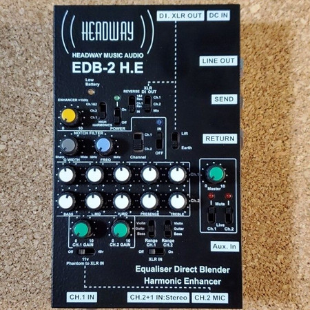 EDB 2 H.E. 2-channel Preamplifier by Headway, top view