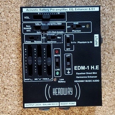 EDM-1 H.E. 1 Channel Preamplifier by Headway, top view