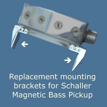 Mounting Brackets (Replacement) for Schaller Model 411 Pickup, shown mounted on pickup