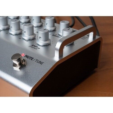 FELiX2 Two Channel Blending Preamp from Grace Design, silver model focus on protective side rail
