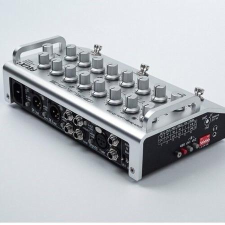 FELiX2 Two Channel Blending Preamp from Grace Design, silver model rear 3/4 view