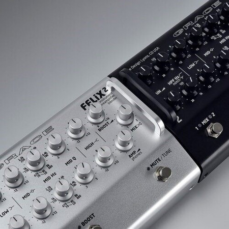 FELiX2 Two Channel Blending Preamp from Grace Design, silver and black models side by side