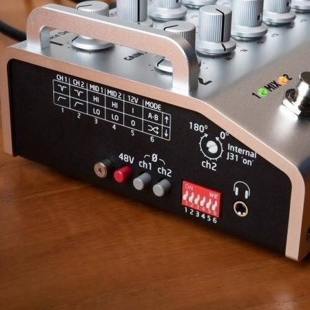 FELiX2 Two Channel Blending Preamp from Grace Design, closeup of side controls