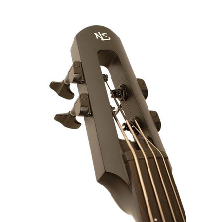 NXTa Electric Upright Bass, Black headstock closeup
