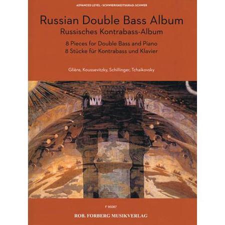 Russian Double Bass Album, string solo repertoire. Cover