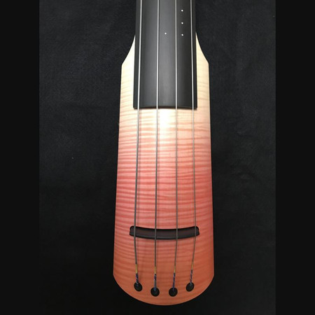 """Limited Edition """"Seasons"""" NS Design NXTa Full Size Electric Upright Basses - Spring closeup of body"""