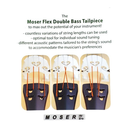 Moser Flex Tailpiece for 3/4 Size Upright Bass, instructions
