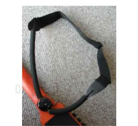 NS Design Boomerang Strap for OmniBass, EUB, and Electric Cello. Low-Profile wearable strap system. In playing position