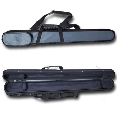 Double Bow Case for Two Bass Bows - two views (closed and open)