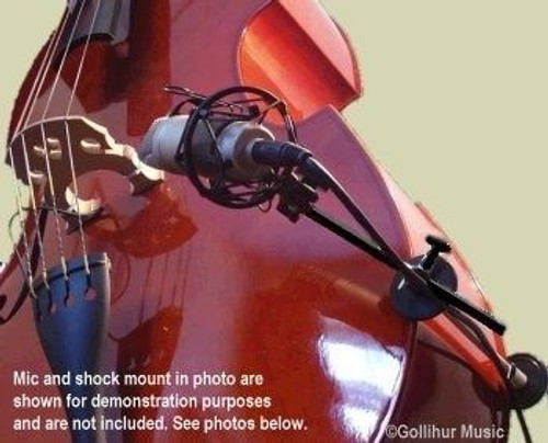 H-Clamp Light Upright Bass and Cello Microphone Mounts