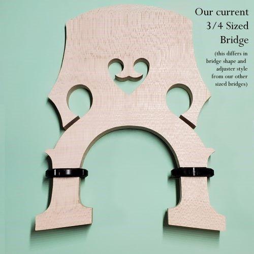 3/4 size adjustable bass bridge