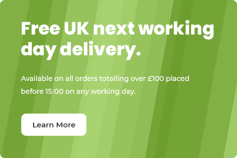 Free Next Working Day Delivery to the UK