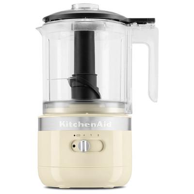 KitchenAid 5KFCB519BAC 1.2-Litre Cordless Food Processor in Almond Cream