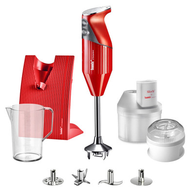 Bamix Superbox Hand Blender in Red