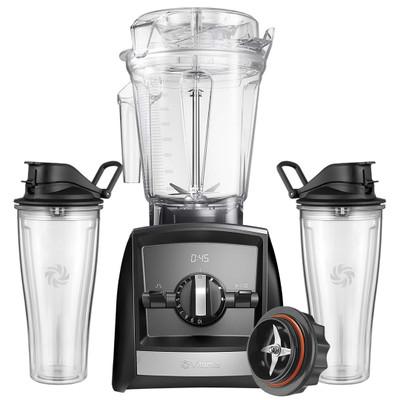 Vitamix Ascent 2500i Blender in Black with 600ml Cup Starter Kit