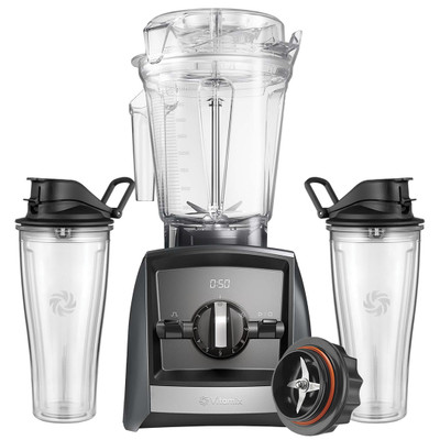 Vitamix Ascent 2300i Blender in Grey with 600ml Cup Starter Kit